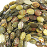 18mm multicolor picasso jasper flat oval beads 15.5