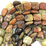 16mm natural Australian agate flat square beads 15