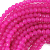 6mm glass round beads 14