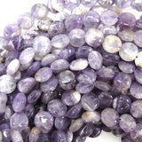 12mm amethyst coin beads 15.5