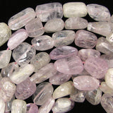 10-16mm natural kunzite freeform nugget beads 15.5