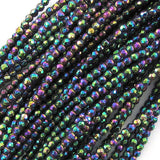 2mm faceted hematite round beads 15.75