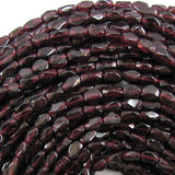 6mm red garnet freeform nugget beads 14