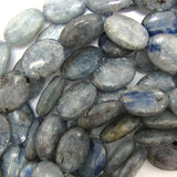 16x20mm blue kyanite flat oval beads 16