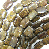 20mm bronzite rectangle beads 16