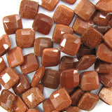 16mm faceted goldstone diamond beads 15.5