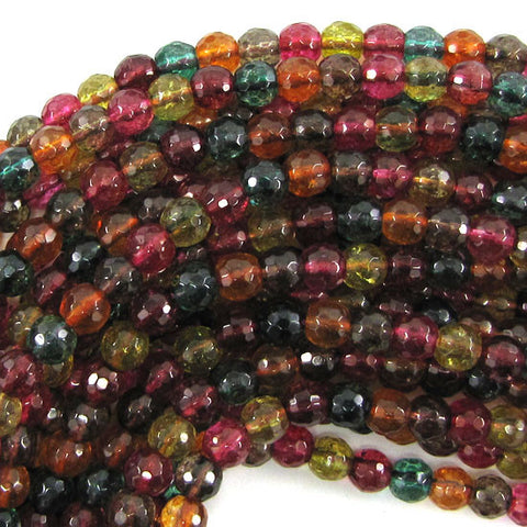 "6mm fire cherry quartz round beads 15.5"" strand"