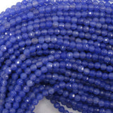 4mm faceted jade round beads 15