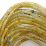 13mm natural yellow jade tube beads 15.5