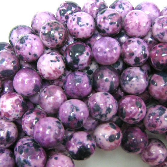 "14mm synthetic purple sugilite round beads 15.5"" strand"