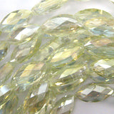 12x25mm faceted crystal marquise beads 7.5