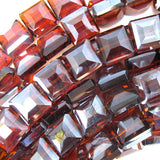13mm faceted crystal square beads 8