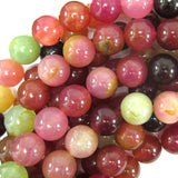 12mm multicolor jade round beads 15