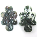45mm indian agate carved pendant bead 1pc