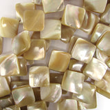 16mm natural mother of pearl mop diamond beads 15.5