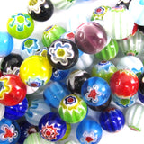 10mm multicolor lampwork glass round beads 14