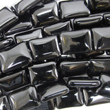 18mm black onyx rectangle beads 15.5