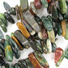 14-22mm Indian agate stick nugget beads 15