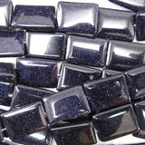 13x18mm blue goldstone rectangle beads 15.5