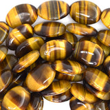 13x18mm tiger eye flat oval beads 15.5
