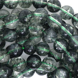 8mm green rutilated quartz round beads 7