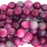 8mm faceted watermelon tourmaline jade round beads 15