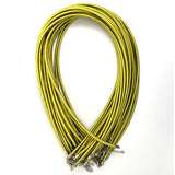 3mm yellow green silk cord necklace 18