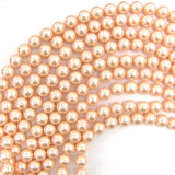 10mm pink shell pearl round beads 16