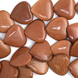 20mm goldstone heart beads 15