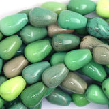 12mm green chrysoprase teardrop beads 15.5