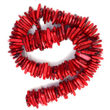 14-22mm red turquoise chip nugget 16