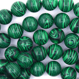 16mm synthetic green malachite round beads 15.5