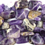 20mm natural amethyst rectangle beads 15