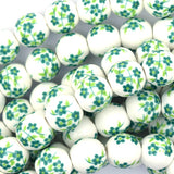 10mm flower porcelain round beads 14