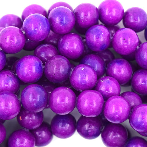 "6mm faceted ruby red jade round beads 10"" strand"