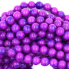 6mm purple sugilite jade round beads 15.5