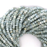 3mm faceted natural blue larimar rondelle beads 13