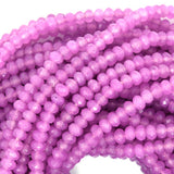3mm faceted jade rondelle beads 14.5