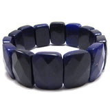 15x20mm faceted dark purple jade stretch bracelet 8