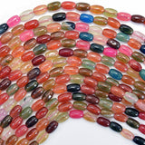 6mm multicolor agate rice beads 15.5