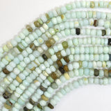 4mm faceted light blue opal rondelle beads 13