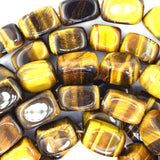 16mm tiger eye nugget beads 15.5