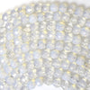 4mm faceted opalite quartz round beads 15.5