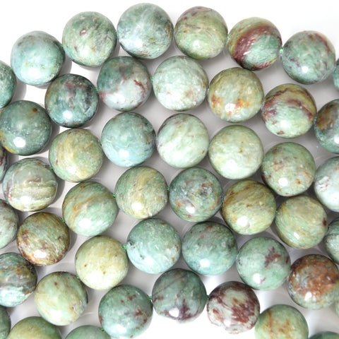 "10mm faceted picture jasper round beads 15"" strand"