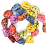 20mm multicolor turquoise nugget beads 16