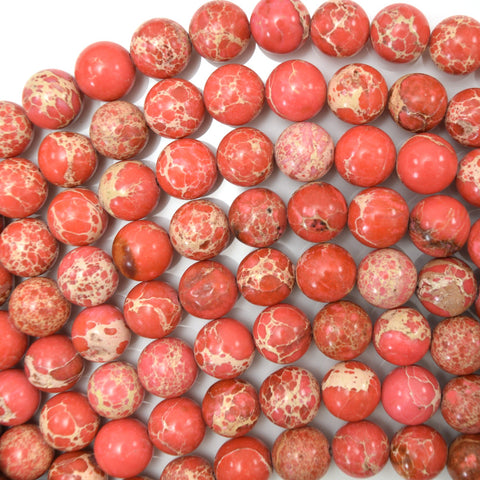 "6mm faceted picasso jasper round beads 15"" strand"