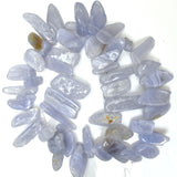 16-20mm blue lace agate rectangle nugget beads 15.5