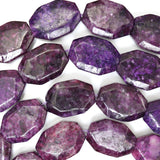 25mm faceted purple sugilite rectangle beads 16