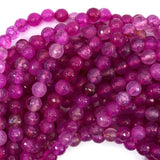6mm faceted agate round beads 14.5