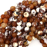 10mm faceted agate round beads 15